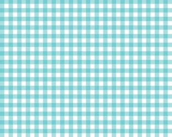 Aqua Gingham Fabric
