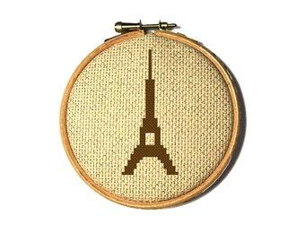 Paris DIY kit. Christmas tree ornament kit. DIY christmas gift for traveller. French friend gift ideas