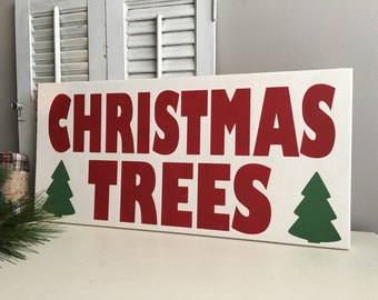 Christmas Signs - Christmas Trees for Sale  - Christmas Decorations - Christmas Decor - Rustic Christmas Sign