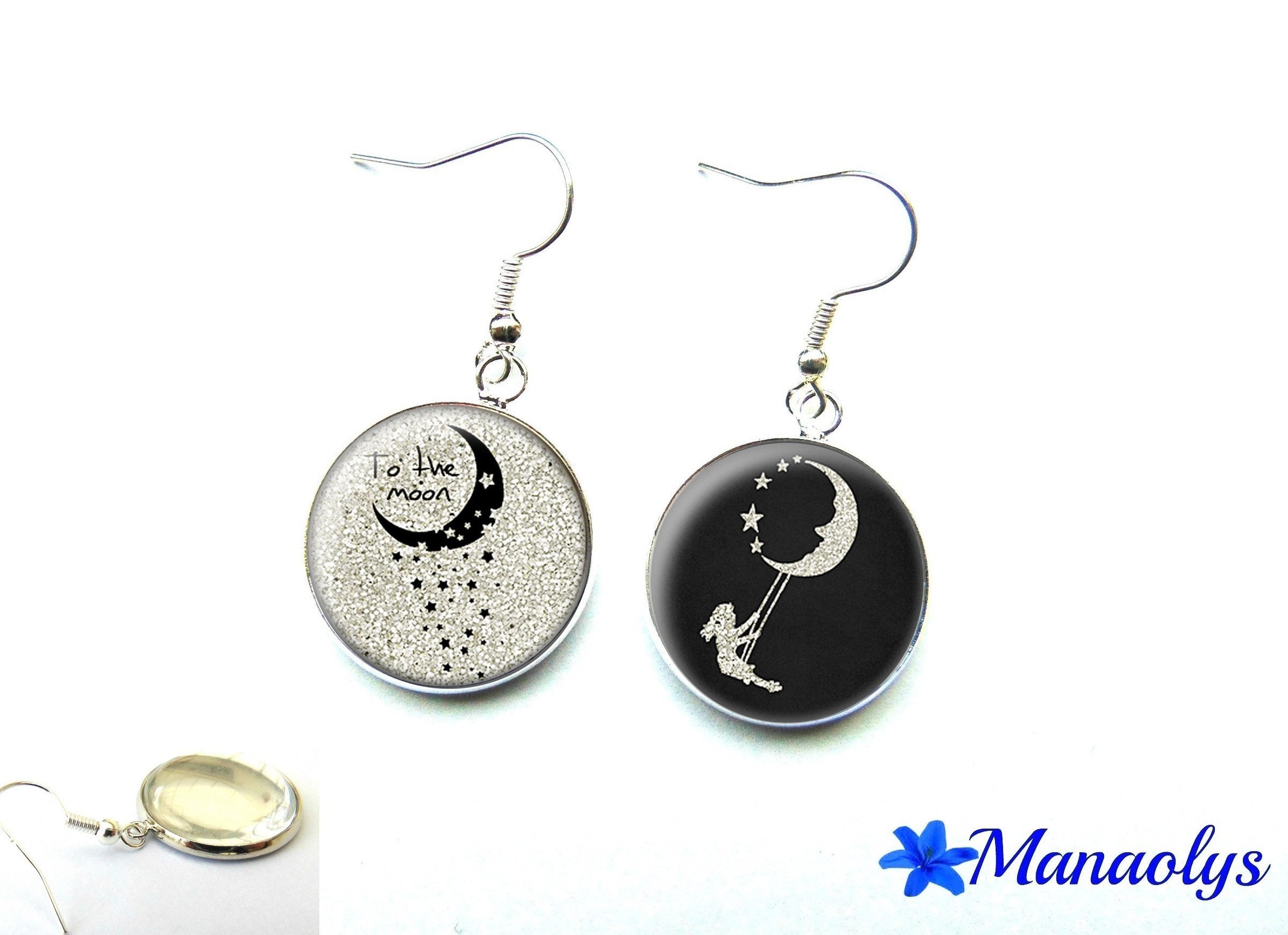 and pin accessories moon earrings ss jewel pinterest