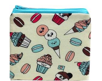 Coin Pouch-Coin Purse-Coin Wallet-Coin Bag-Zip Bag-Zipper Bag-Zip Pouch-Food Bag
