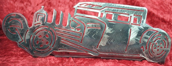 1932 Ford Rat Rod Table Top Display, Metal Stand, Automobile Metal Art, 1932 Memorabilia, Classical Car, Vintage Style Art, Automotive Art