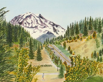Mount Rainier from Tehaleh original painting or reproduction