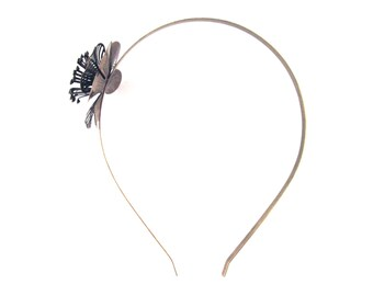 1 Brass Plated Flower Filigree Headband