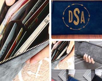 Monogrammed clutch purse
