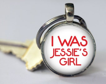 I Was Jessie's Girl - Key Chain - 80's Retro - 25mm Round