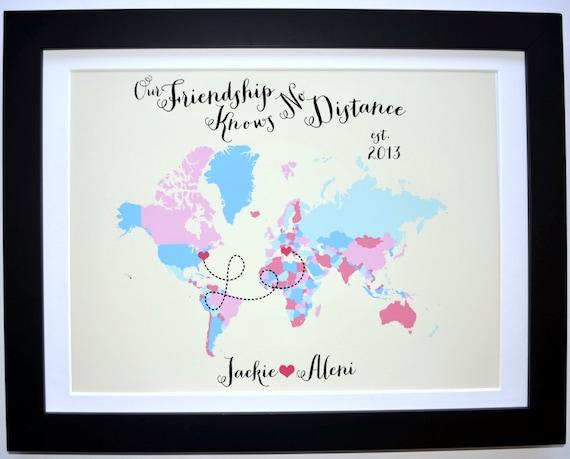 Best Friend Custom Art Print Friend Gift Foreign Exchange