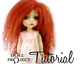 Doll Hair and Wigging Subscription Tutorial Complete How to Make Wigs and Hair for Dolls of any Size