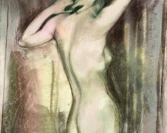 Her Back, nude figure drawing art print