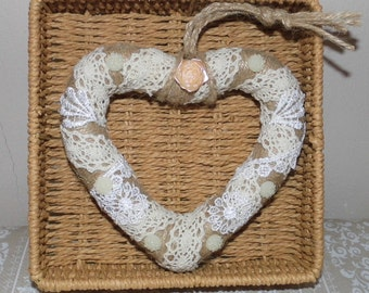 Shabby Chic Lace Heart
