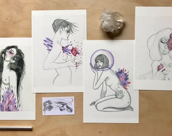 Amethyst Babes 4 Print Pack