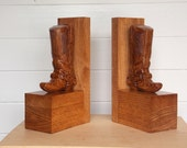 Western Wood Bookends ~ C...
