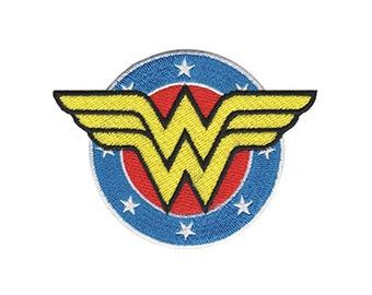 Wonder Woman Iron On Applique, Wonder Woman Logo Patch, Genuine DC Comics Patch, WonderWoman Applique, Kids Patch