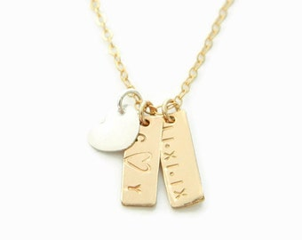 Initial Necklace, Name Necklace, Tag Name Necklace, Gold Name Necklace, Initial Gold Necklace, Monogram Name Necklace