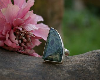 Kambaba Jasper ring, size 57 or 8 US
