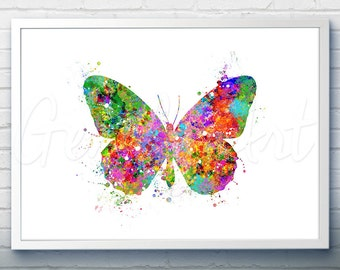 Butterfly Watercolor Art Print - Butterfly Watercolor Art Painting - Butterfly Poster - Home Decor - House Warming Gift [2]