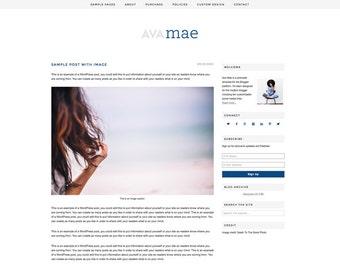 Ava Mae - A Responsive WordPress Theme