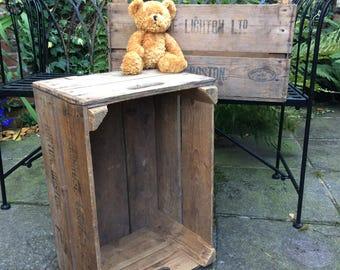 Vintage wooden storage crate