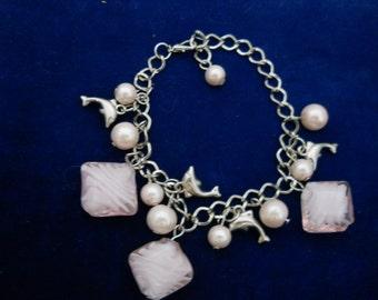 Vintage Dolphin Charm Bracelet #686