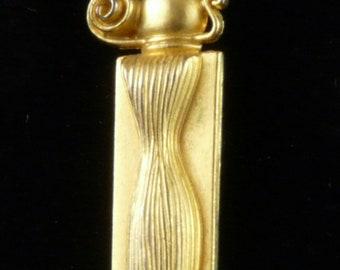 GIVENCHY Organza Perfume Gold Brooch