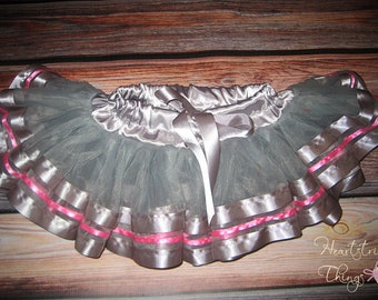 Chiffon Pixie Pettiskirt triple lined with Satin Ribbon adapted from Petti Skirt for Baby or Child