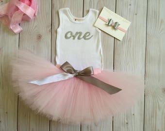 Baby Girl 1st Birthday Outfit | Baby Tutu | Pink Tutu Dress | Birthday Dress | Baby Girls Cake Smash Outfits | Birthday Tutu