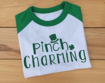 Toddler Boy St. Patrick's Day Shirt, Boy St. Patrick's Day Shirt, St. Patrick's Day Shirt, St. Patty's Day Shirt, Pinch Charming, Mr. Lucky