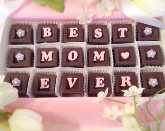 Best Mom Ever Chocolates - Mother's Day Gift - Mother's Day Candy - Gift for Mom - Mother's Day Chocolate - Mum's Day Gift - Chocolate Gift