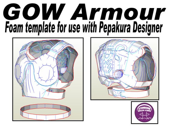GOW Chest Armour Template for EVA foam .pdf file and .pdo
