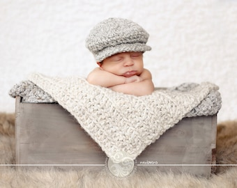 Baby Boy Hat Gray Baby Hat Cream Infant Baby Donegal Hat Baby Boy Photo Prop Irish Donegal Cap Baby Boy Clothes Newsboy Hat Newsboy Cap Golf