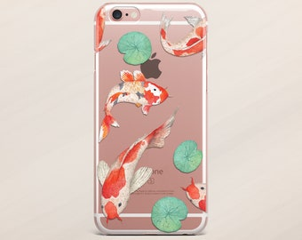 Koi Fish iPhone X Case iPhone 7 Case iPhone 5s Case iPhone 8 Case iPhone 7 Plus Case iPhone 6 Case iPhone 6s Case iPod Touch 5 Case Clear