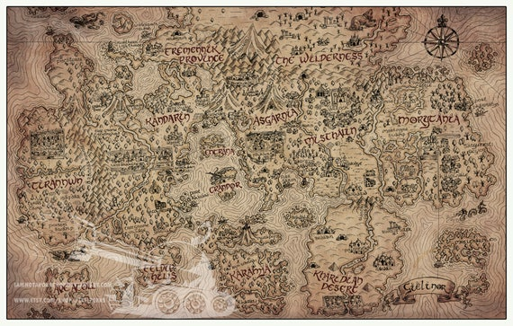 Vintage runescape world map print multiple sizes available like this item publicscrutiny Image collections