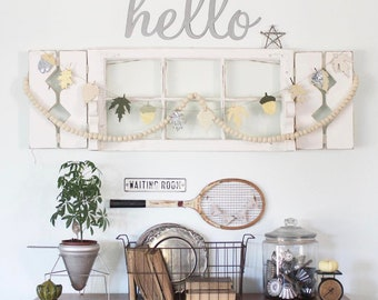 hello || Metal Sign || Large Word || Cursive Sign || Large Sign  || Vintage Style Decor || Entry Way Sign || Home Decor ||