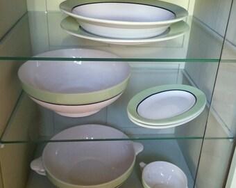 Set french vintage dishes soup plates salad bowls