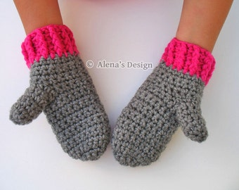 Crochet Pattern 104 - Crochet Mitten Pattern for Childrens Mittens - Mittens Patterns - Crochet Glove Pattern Kids Mittens Toddler Mittens