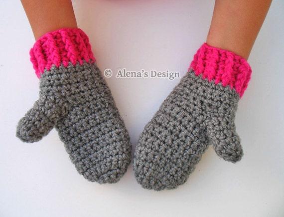 Crochet Pattern 104 - Crochet Mitten Pattern for Childrens Mittens - Mittens Patterns - Crochet Glove Pattern Kids Mittens Toddler Mittens