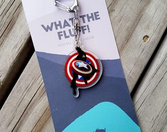 Captain America Acrylic Charm