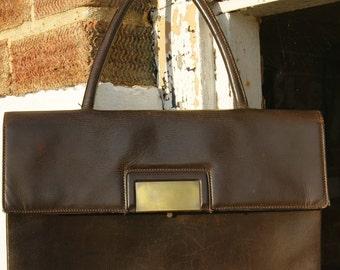 1950's Brown Leather Folio Bag