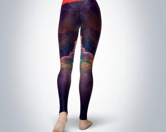 Storm Fractal - Women's Yoga Pants/Yoga Leggings