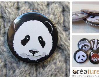 Panda badge giant illustration vector 38mm