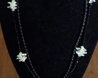 2 Black & Crystal Necklaces