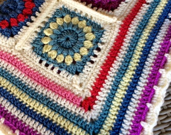 Beautiful Flower Garden Throw