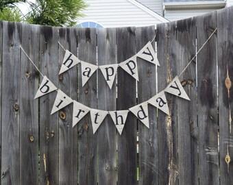 Happy Birthday Banner- Custom Banner- First Birthday- Birthday Decorations- Birthday Garland- Happy Birthday Decor- Birthday Bunting