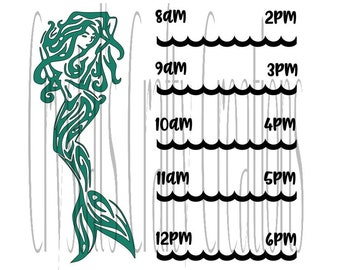 Mermaid Timeline Water Bottle SVG File Ready To Use