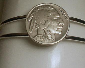 Indian Head  Coin Bracelet 1937  Nickel Birthday