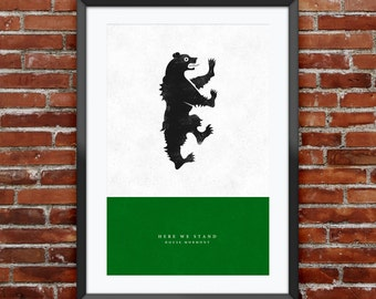"""Game of Thrones - House Mormont print 11X17"""""""
