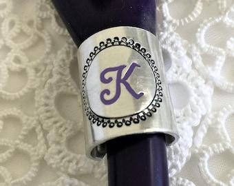 Stethoscope Charm Stethoscope ID Ring, Stethoscope ID Tag, Wide Stethoscope ID Ring, Nurse Gift, Doctor Gift,  Personalized Stethoscope Ring