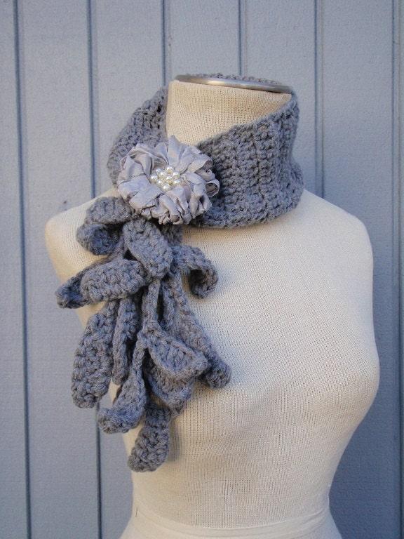 Häkeln Sie Halskette handgemachte Schal floral Schal