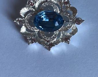 Napier Vintage Blue Brooch/ Easter Brooch/Gift