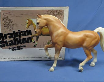 Vintage 1960s Breyer Horse Model #4 Palomino Alabaster in Original Box